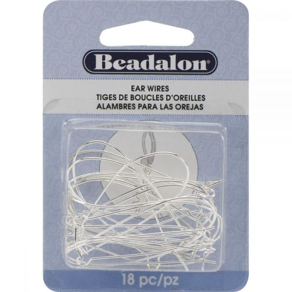 Beadalon Kidney Ear Wires 44mm 18/Pkg