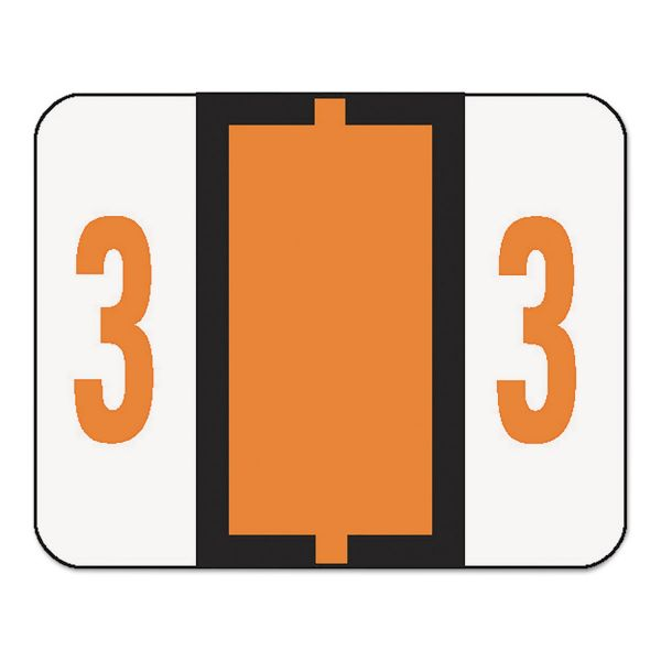 Smead BCCRN Bar-Style Color-Coded Numeric Label - 3