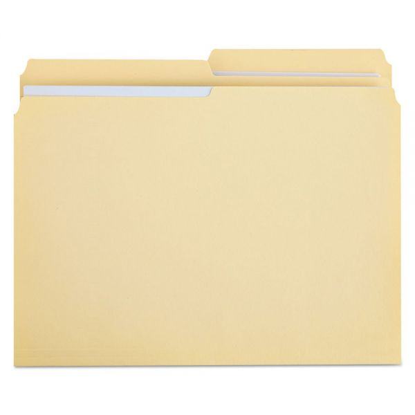 Universal File Folders, 1/2 Cut, Two-Ply Top Tab, Letter, Manila, 100/Box