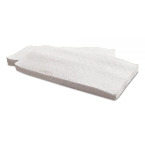 Morcon Paper Dinner Napkins, 1-Ply, 15 x 17, White, 141/Pack, 32 Packs/Carton