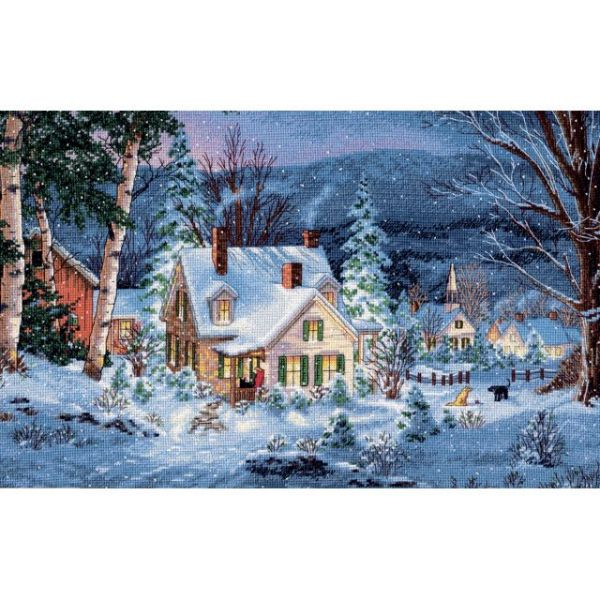 Gold Collection Winter's Hush Counted Cross Stitch Kit