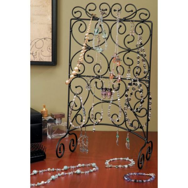 "Metal Jewelry Display Stand 14.75""X4.5"""