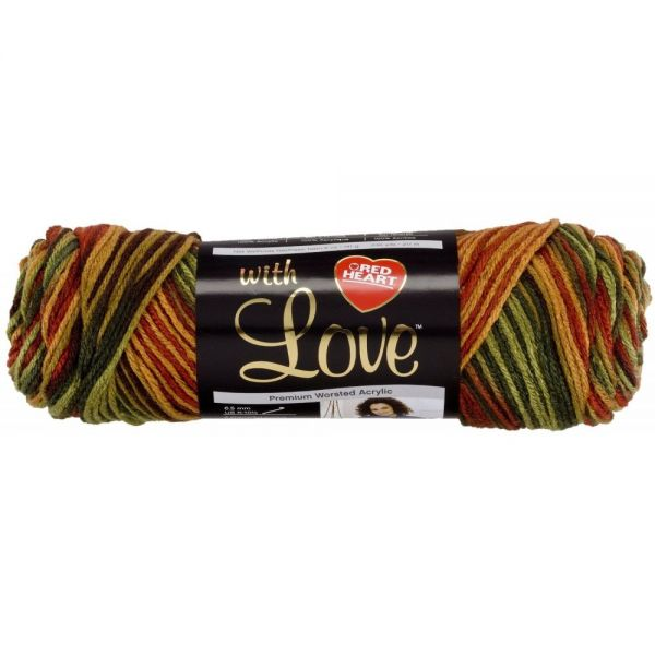 Red Heart With Love Yarn - Autumn