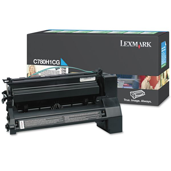 Lexmark C780H1CG Cyan High Yield Return Program Toner Cartridge