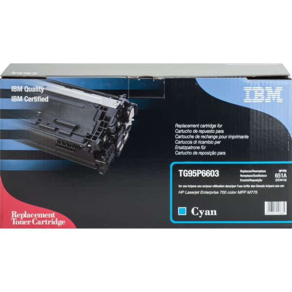 IBM Remanufactured HP 651A (CE341A) Toner Cartridge