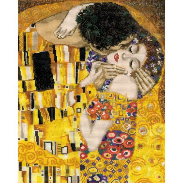 The Kiss/G. Klimt's Painting Counted Cross Stitch Kit