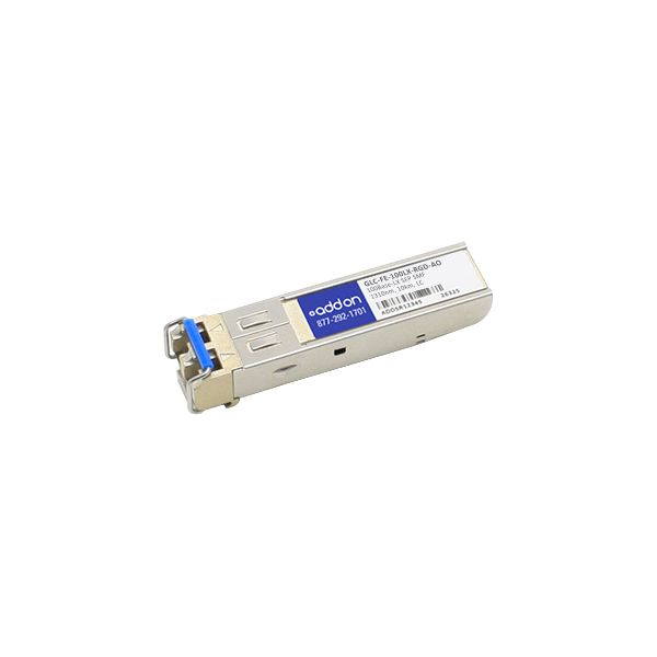 AddOn Cisco GLC-FE-100LX-RGD Compatible TAA Compliant 100Base-LX SFP Transceiver (SMF, 1310nm, 10km, LC, Rugged)