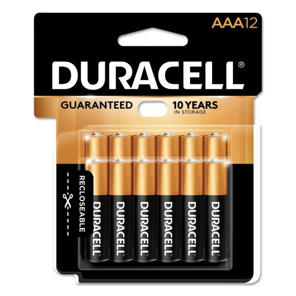 Duracell CopperTop Alkaline Batteries, AAA, 12/PK