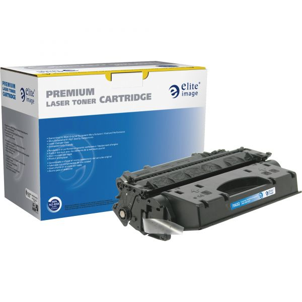 Elite Image Remanufactured HP CE505X Black Toner Cartridge