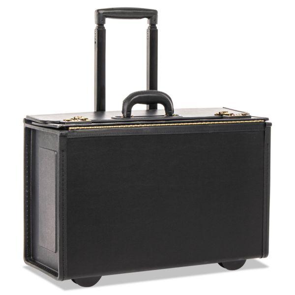 Tufide Rolling Catalog Case, 22 1/4 x 9 x 13 1/2, Black