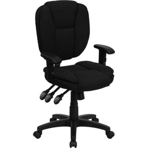 Flash Furniture Mid-Back Multi-Functional Ergonomic Task Chair with Arms