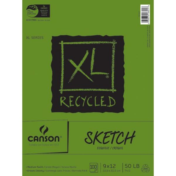 "Canson XL Recycled Sketch Paper Pad 9""X12"""