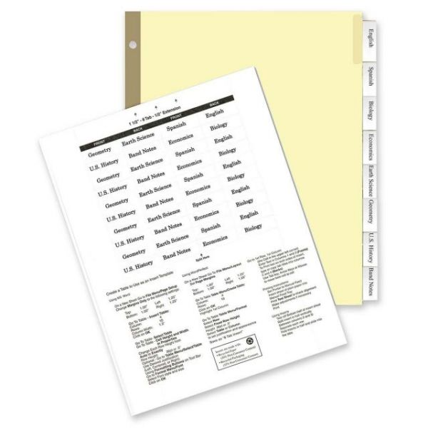 Kleer-Fax Deluxe Hi-Tech Insertable Tab Index Dividers