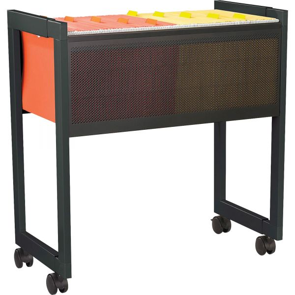 Safco Adjustable Open Top Mobile Tub File Cart