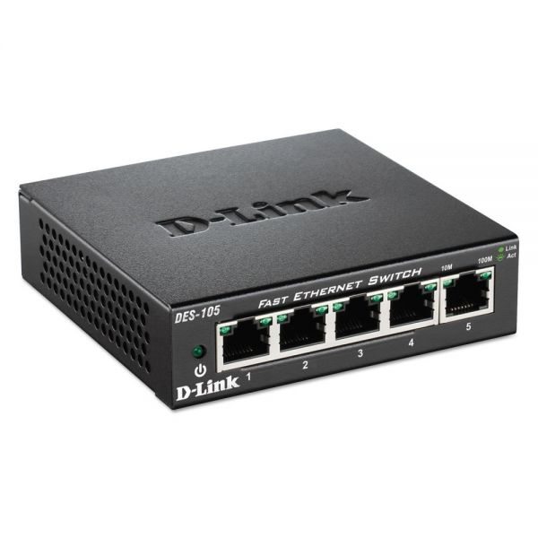 D-Link 5-Port Fast Ethernet Switch, Unmanaged