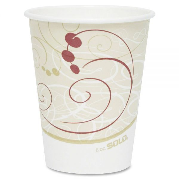 Solo Single-Sided 8 oz Paper Coffee Cups