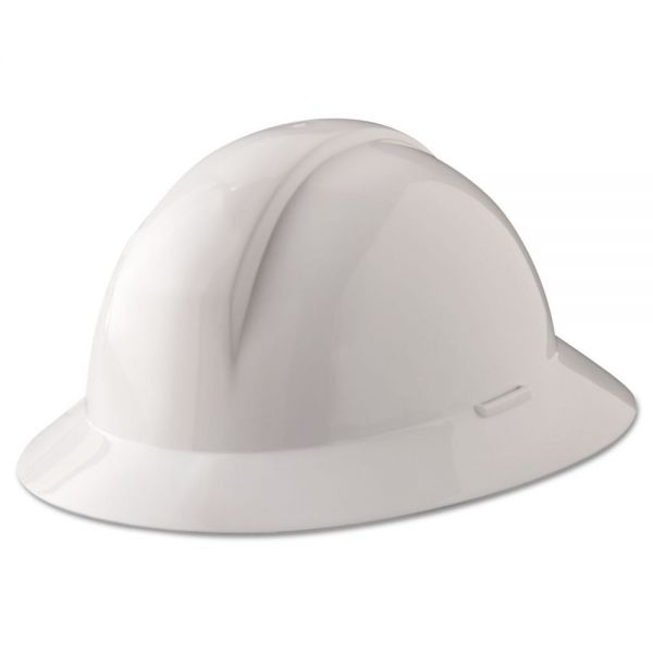 North Safety A-Safe Everest Hard Hat, White, Full Brim, Slotted