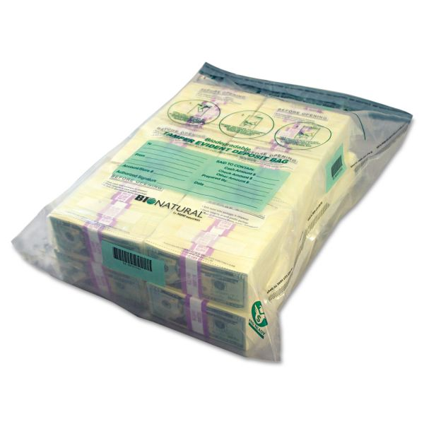 MMF Industries Bundle Cash Bags, 19 x 28, Clear, 100 per Pack
