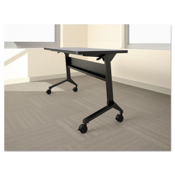 Mayline Flip-n-Go Table Base, 70 1/2w x 21 1/4d x 27 7/8h, Black
