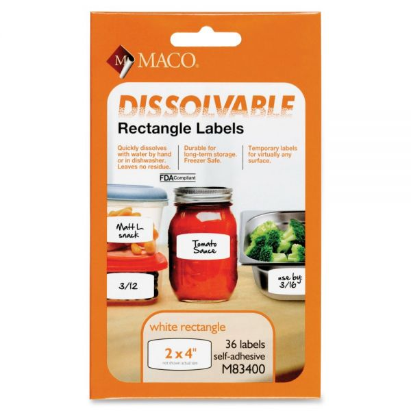 Maco Dissolvable Labels