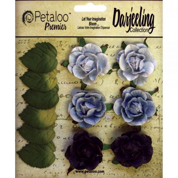 """Darjeeling Garden Rosettes 1.5"""" 6/Pkg"""