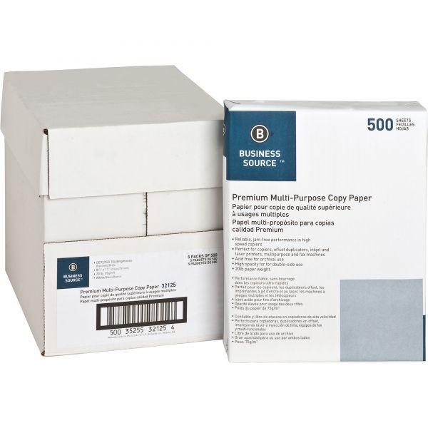 Business Source Premium Multi-Purpose White Copy Paper