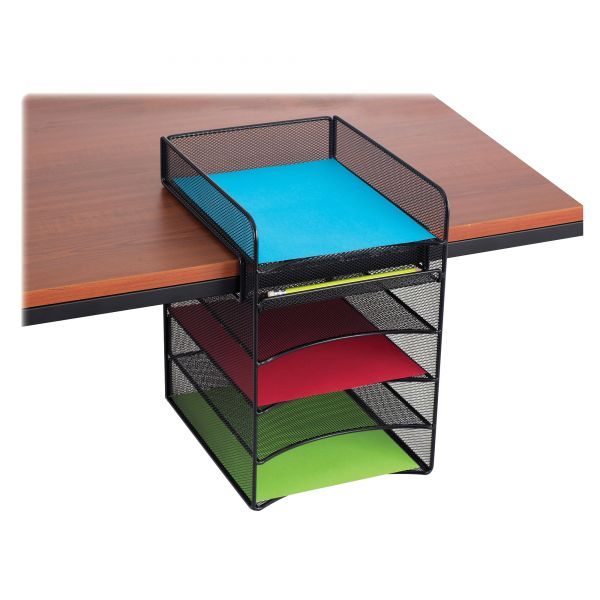 Safco Onyx Horizontal Hanging Desktop Storage