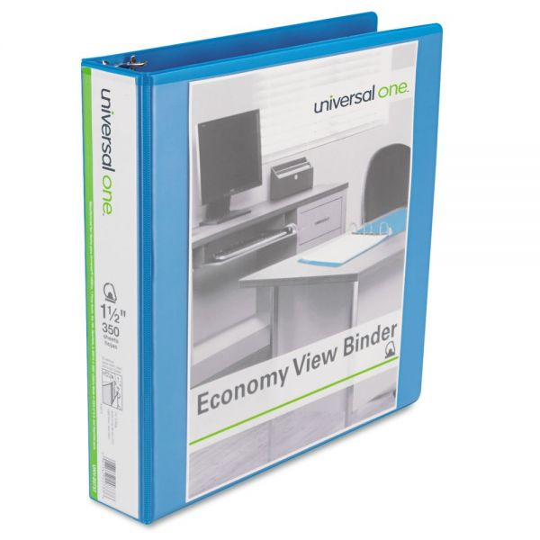 "Universal Economy 1 1/2"" 3-Ring View Binder"