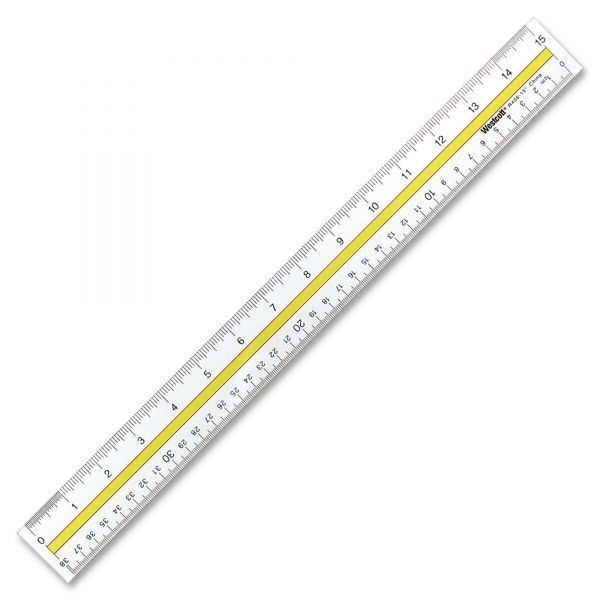 Westcott Data Highlight Clear Ruler