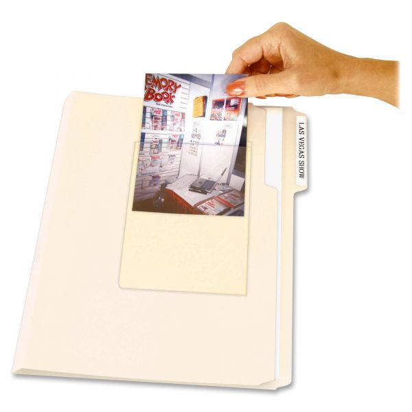 C-Line Peel & Stick Photo Holders for 3 x 5 & 4 x 6 Photos, 4-3/8 x 6-1/2, Clear, 10/pk