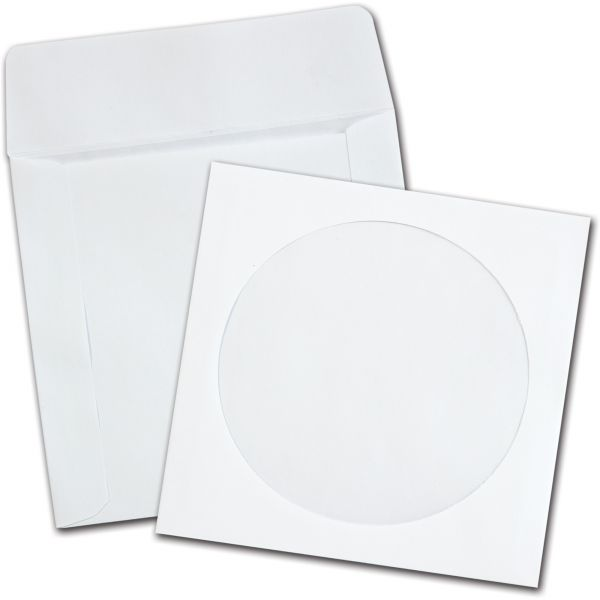Quality Park CD/DVD Sleeves, White, 250 per Box