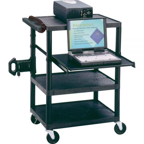 Quartet Duracart Multimedia Projector Cart With Laptop Shelf