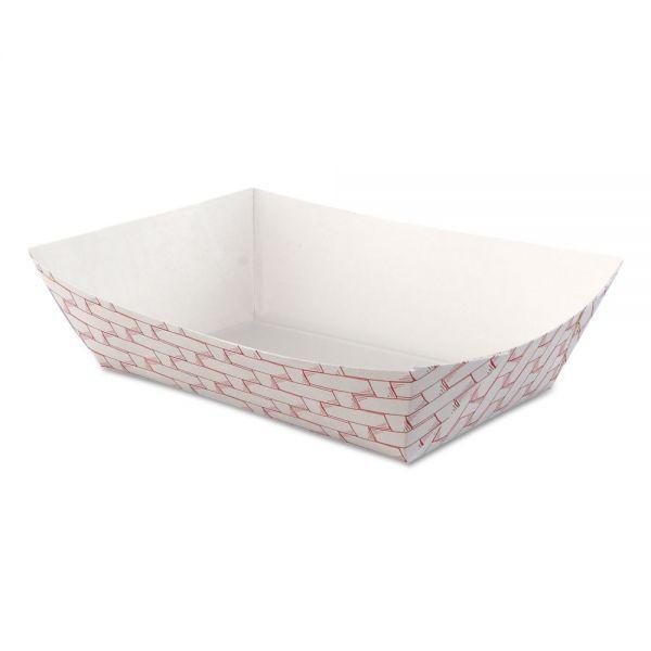 Boardwalk Paper Food Baskets, 2.5lb Capacity, Red/White, 500/Carton
