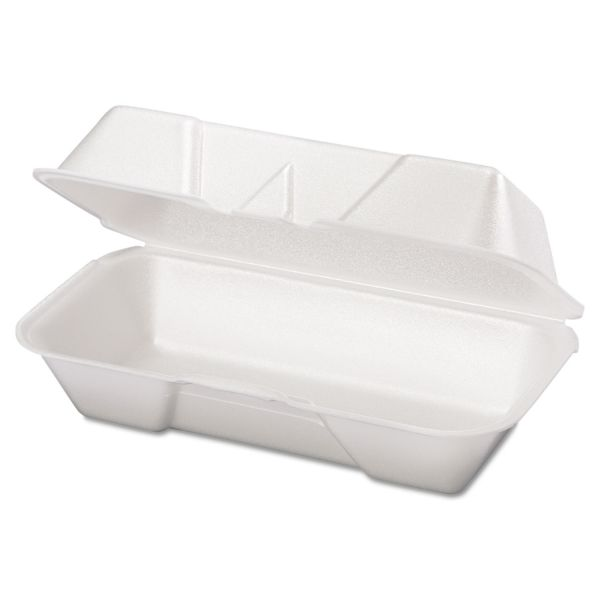 Genpak Takeout Foam Clamshell Hot Dog Containers