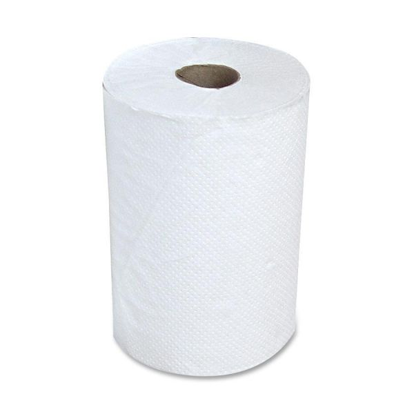 """Stefco Hardwound Paper Towels, 8"""", 1 Ply, 12 Rolls/ Carton"""
