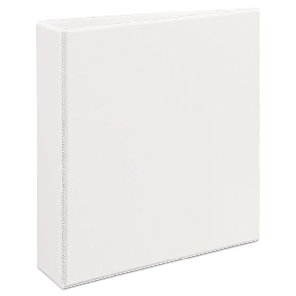 "Avery Heavy-Duty 3-Ring View Binder w/Locking 1-Touch EZD Rings, 2"" Capacity, White"