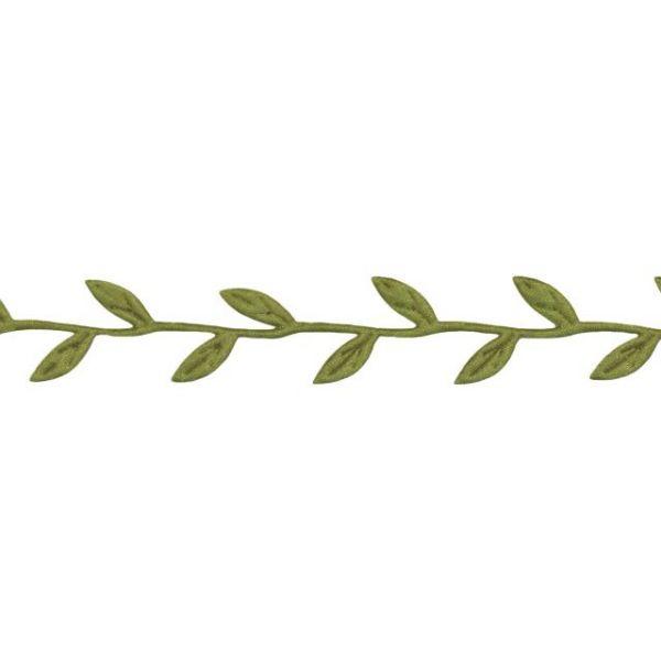 """May Arts 1"""" Cutout Leaves Ribbon"""