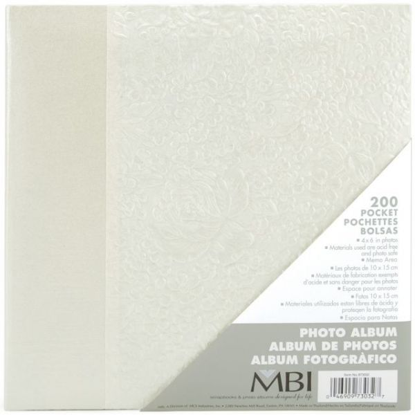 "Embossed Book Bound Photo Album 8.75""X9.5"""