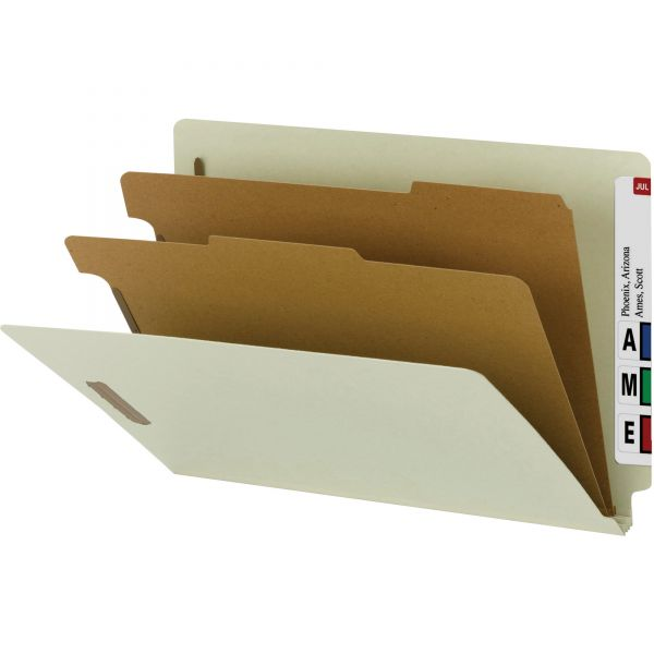 Smead 100% Recycled End Tab Classification Folders