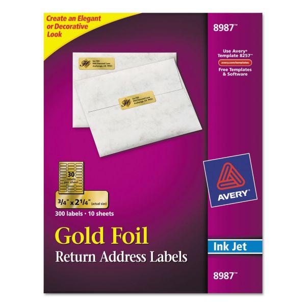 Avery Gold Foil Return Address Labels