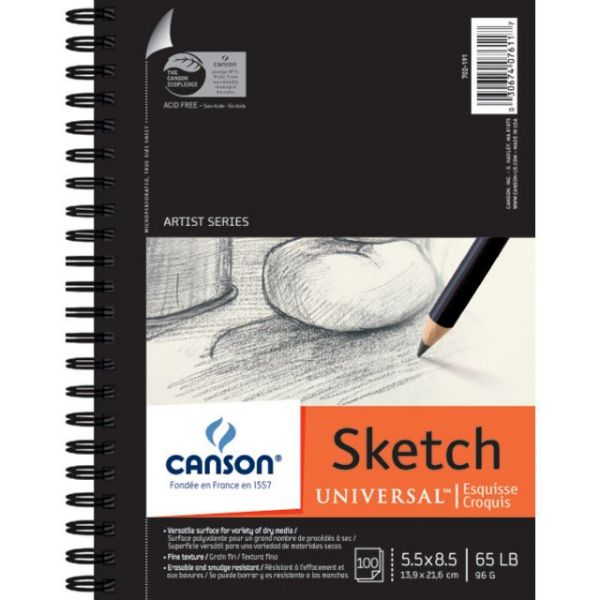 Canson Universal Acid Free Spiral Sketch Book