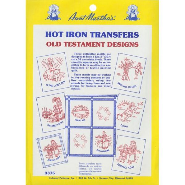 Aunt Martha'a Iron-On Transfer Collection