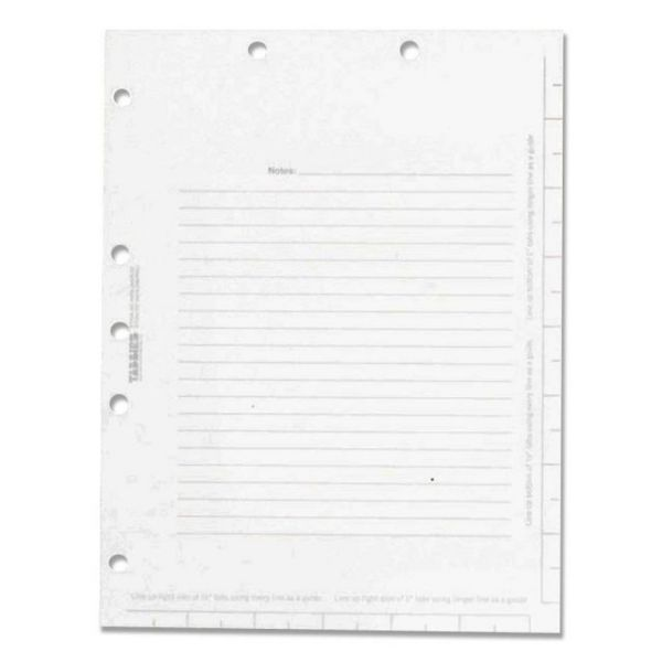 Tabbies Legal Index Divider Sheets