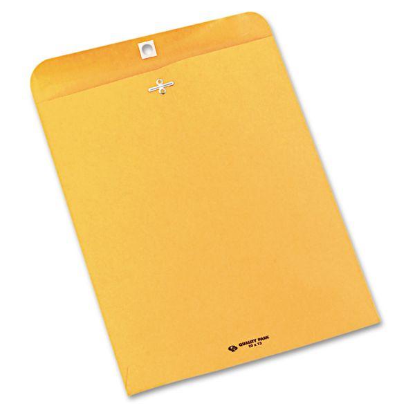 Quality Park Clasp Envelope, 10 x 13, 28lb, Brown Kraft, 250/Carton
