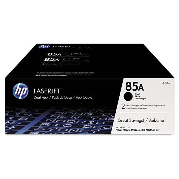 HP 85A Black Toner Cartridges (CE285D)
