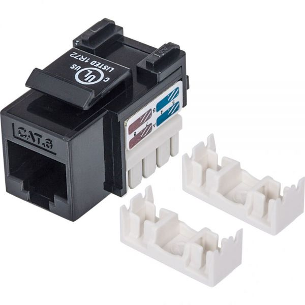 Intellinet Cat6 UTP Punch-down Keystone Jack, Black