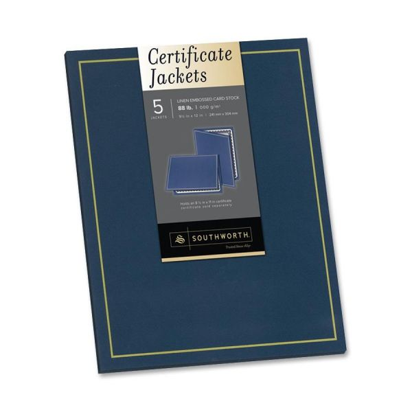 Southworth Navy Blue Certificate Holders