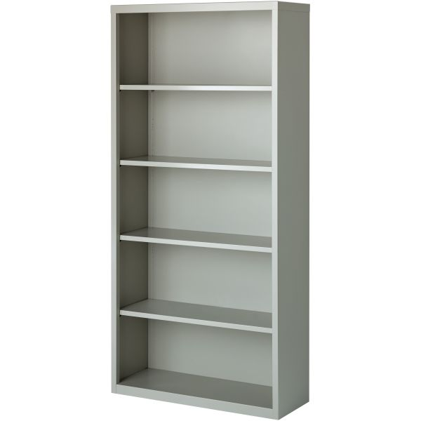 Lorell Fortress Series 5-Shelf Steel Bookcase