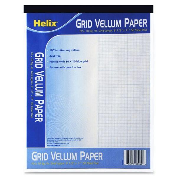 Helix Grid Vellum Paper Pad - Letter