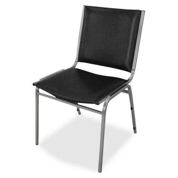 Lorell Padded Armless Stacking Chairs
